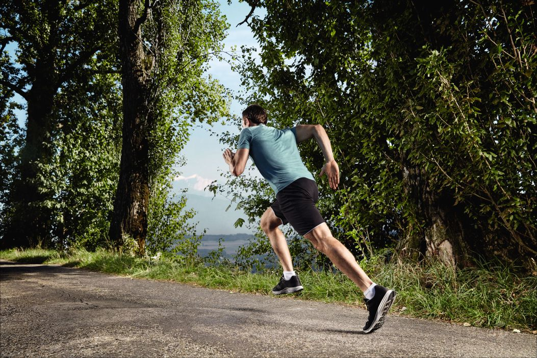 Gesundheit/Sport: Jogging im Wald  / Nähe Reuss